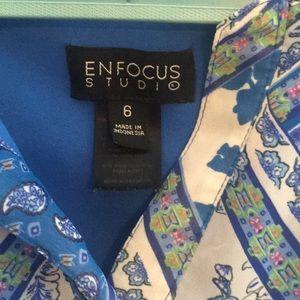 Enfocus Studio Dresses - Blue floral mini dress